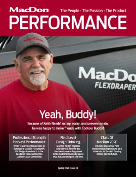 MacDon Performance Magazine Spring 2020 Cover