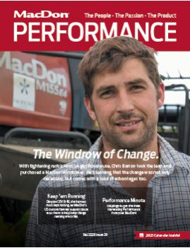 MacDon Performance Magazine Fall 2020 Cover
